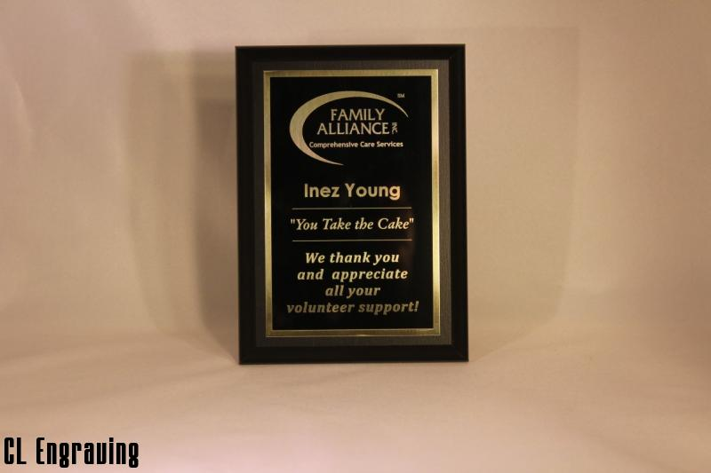 engraved award plaques